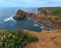 Ακτή Αλγκάρβε, Πορτογαλία του θερινού Ατλαντικού Ωκεανού Στοκ Εικόνα