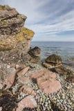 Ακτή επί του πεσμένου τόπου βράχων στο Glen Sannox σε Arran στη Σκωτία Στοκ εικόνες με δικαίωμα ελεύθερης χρήσης