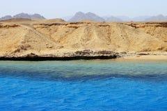 Ακτή Ερυθρών Θαλασσών στο έδαφος Ras Μωάμεθ Στοκ Εικόνα