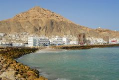 Ακτή Ερυθρών Θαλασσών στο Al Mukalla, Υεμένη στοκ εικόνες