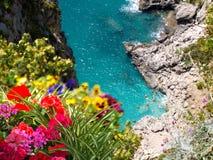 ακτή Ιταλία capri της Αμάλφης Στοκ Εικόνα