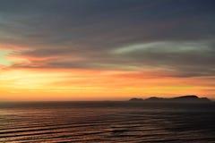 Ακτή και Ειρηνικός Ωκεανός στη Λίμα στοκ εικόνες