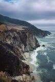Ακτή και διαδρομή 1 Καλιφόρνιας Στοκ εικόνα με δικαίωμα ελεύθερης χρήσης