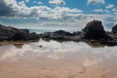 Ακτή και ωκεανός Maui Στοκ Φωτογραφία
