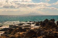 Ακτή και ωκεανός Maui Στοκ φωτογραφία με δικαίωμα ελεύθερης χρήσης