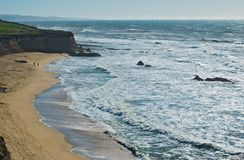 ακτή Καλιφόρνιας βόρεια Στοκ Εικόνα