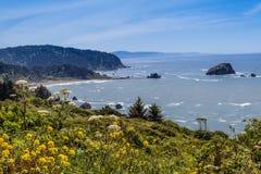 Ακτή Καλιφόρνιας βόρεια Klamath Στοκ Εικόνες