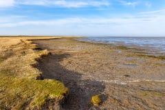 Ακτή κοντά σε Hilgenriedersiel Στοκ Φωτογραφία