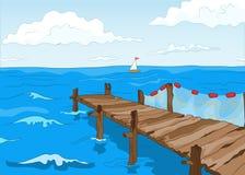 Ακτή λιμνών διανυσματική απεικόνιση