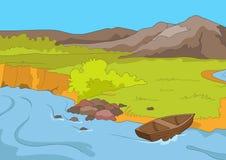Ακτή λιμνών απεικόνιση αποθεμάτων