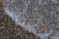 Ακτή Μαύρης Θάλασσας και κύματα, Γεωργία Στοκ εικόνα με δικαίωμα ελεύθερης χρήσης