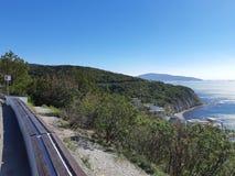 Ακτή Μαύρης Θάλασσας του Νοβορωσίσκ στοκ εικόνες με δικαίωμα ελεύθερης χρήσης