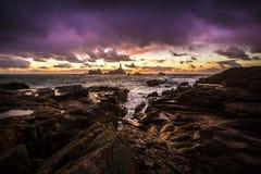 Ακτή νησιών καναλιών του Τζέρσεϋ Στοκ Εικόνες
