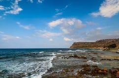 Ακτή νησιών της Κρήτης κοντά στην πόλη της Sisi Στοκ εικόνες με δικαίωμα ελεύθερης χρήσης