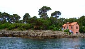 Ακτή νησιών Lokrum, Κροατία Στοκ εικόνα με δικαίωμα ελεύθερης χρήσης