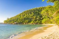 Ακτή νησιών Praslin, Σεϋχέλλες στοκ εικόνες με δικαίωμα ελεύθερης χρήσης