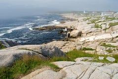 ακτή ομιχλώδης Στοκ εικόνα με δικαίωμα ελεύθερης χρήσης