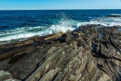 Ακτή πάρκων φάρων σημείου Pemaquid Στοκ Εικόνες