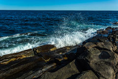 Ακτή πάρκων φάρων σημείου Pemaquid Στοκ Εικόνα