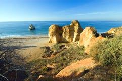 ακτή Πορτογαλία του Αλγ Στοκ Εικόνες