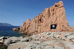 Ακτή σε Arbatax στο νησί της Σαρδηνίας Στοκ Φωτογραφίες