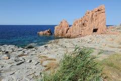 Ακτή σε Arbatax στο νησί της Σαρδηνίας Στοκ Εικόνες