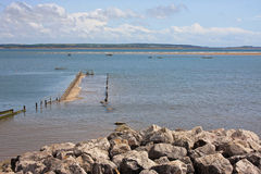 Ακτή σε Haverigg Στοκ Εικόνες