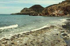 Ακτή σε Las Negras, Ισπανία στοκ εικόνες