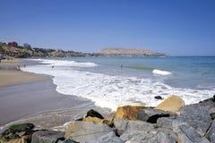 Ακτή στην περιοχή Miraflores στη Λίμα, Περού, στοκ εικόνα