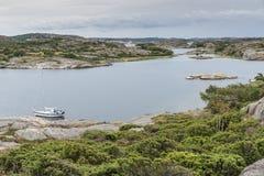 Ακτή στη Σουηδία επάνω από το fjallbacka Στοκ Φωτογραφίες
