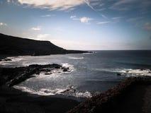 Ακτή στη EL Golfo, Lanzarote, Κανάρια νησιά στοκ εικόνες