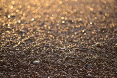 Ακτή στο ηλιοβασίλεμα Στοκ φωτογραφία με δικαίωμα ελεύθερης χρήσης