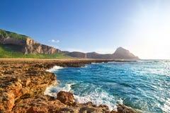 Ακτή στο SAN Vito lo Capo, Σικελία, Ιταλία Στοκ εικόνα με δικαίωμα ελεύθερης χρήσης