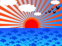 ακτή σύννεφων απεικόνιση αποθεμάτων