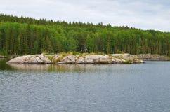 Ακτή της λίμνης Onega Καρελία Στοκ Εικόνα