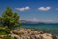 Ακτή της αδριατικής θάλασσας Κροατία στοκ φωτογραφίες