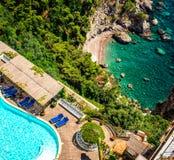 Ακτή της Αμάλφης. Ιταλία Στοκ Εικόνες
