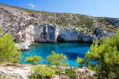 Ακτή της Ελλάδας στη Ζάκυνθο Στοκ εικόνες με δικαίωμα ελεύθερης χρήσης