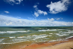 Ακτή της θάλασσας της Βαλτικής Στοκ Εικόνες
