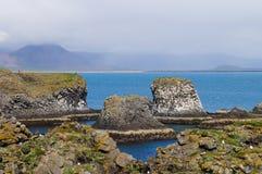 Ακτή της Ισλανδίας σε Arnarstapi, χερσόνησος Snafellsnes 66 Στοκ Εικόνα