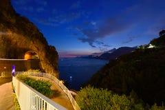 Ακτή της Ιταλίας, Αμάλφη στοκ εικόνες