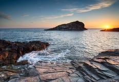 Ακτή της Κορνουάλλης Στοκ εικόνα με δικαίωμα ελεύθερης χρήσης