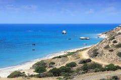 Ακτή της Κύπρου Στοκ Φωτογραφίες