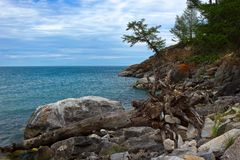 Ακτή της λίμνης Baikal Στοκ εικόνες με δικαίωμα ελεύθερης χρήσης