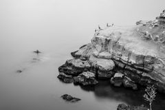 Ακτή της Λα Χόγια σε γραπτό Στοκ Φωτογραφία
