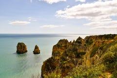 Ακτή του Αλγκάρβε στην Πορτογαλία Λάγκος, Faro, Albufeira στοκ εικόνες