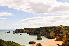 Ακτή του Αλγκάρβε στην Πορτογαλία Λάγκος, Faro, Albufeira στοκ εικόνα με δικαίωμα ελεύθερης χρήσης