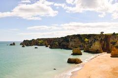 Ακτή του Αλγκάρβε στην Πορτογαλία Λάγκος, Faro, Albufeira στοκ εικόνα