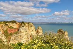 Ακτή του Αλγκάρβε στην Πορτογαλία Λάγκος, Faro, Albufeira στοκ φωτογραφίες