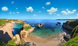 Ακτή του Ατλαντικού Ωκεανού, Ισπανία Στοκ φωτογραφία με δικαίωμα ελεύθερης χρήσης